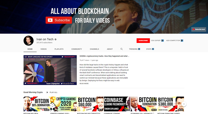 ivan on tech youtube channel, crypto youtubers